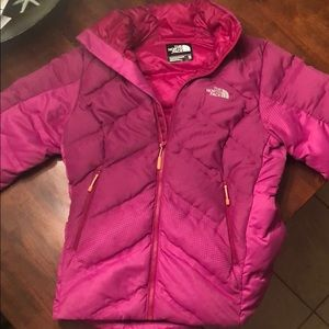 North Face Pink Puffy Down